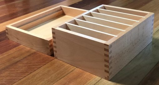 Story Box open lid underneath - empty