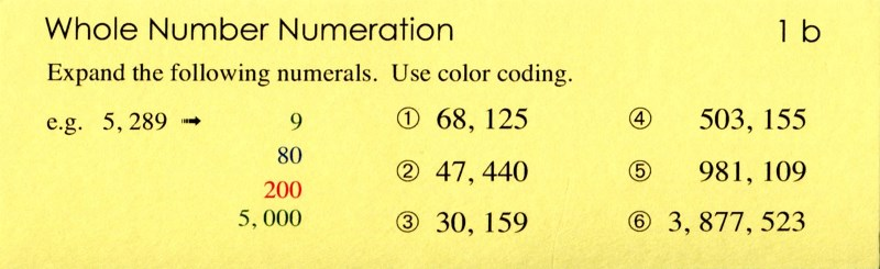 1b Whole Number Numeration