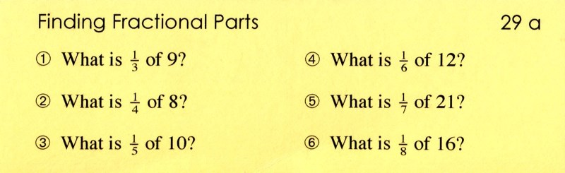 29a Finding Fractional Parts