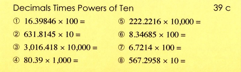39c Decimals x Powers of Ten