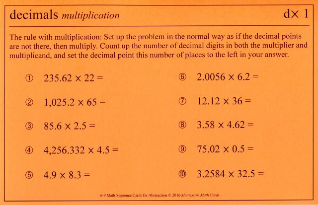 ASC dx1 Decimals multiplication