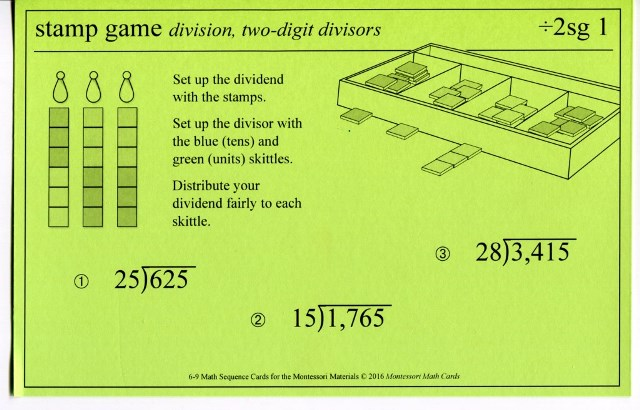 MSC ÷2sg1 Stamp Game division 2-digit