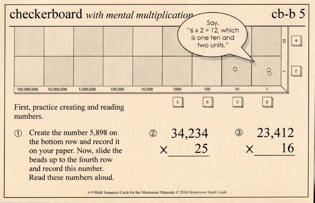MSC cb-b5 Checkerboard mental multiplication