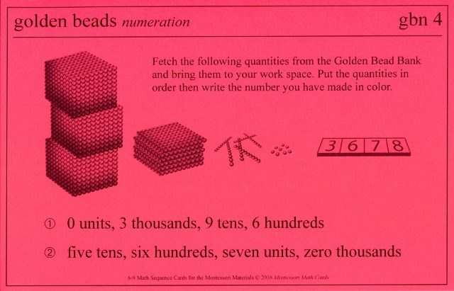MSC gbn4 Golden Bead numeration