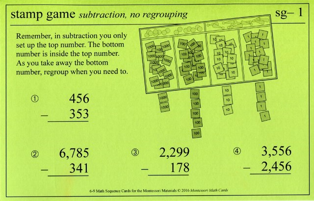 MSC sg–1 Stamp Game subtraction
