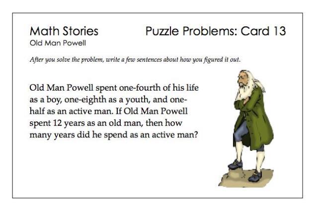 SP Puzzle Problems 13