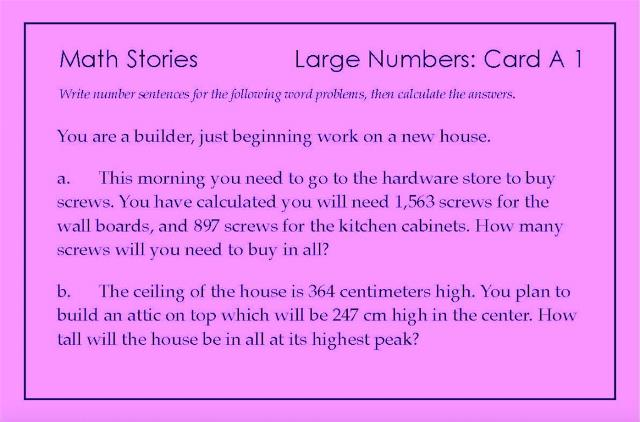 Story Problems-LargeNumbers A1