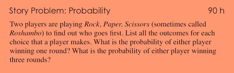 90h - Story Problem - Probability